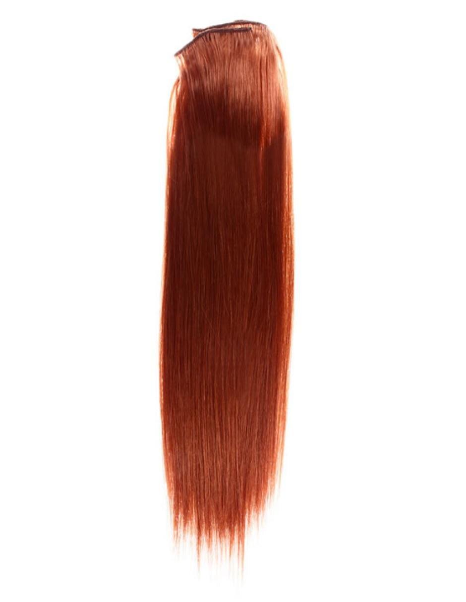 Hair Pro De Claro Extensiones Castaño Cabello Clip Indian Remy WH2D9IYE