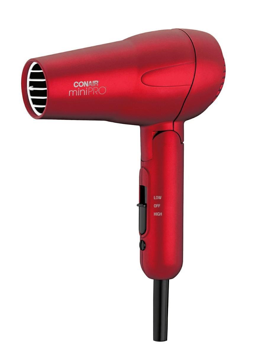 Secadora de cabello plegable Conair Mini Pro roja 141589aa8c51